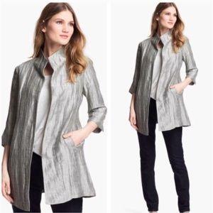 Eileen Fisher Metallic Jacquard Jacket